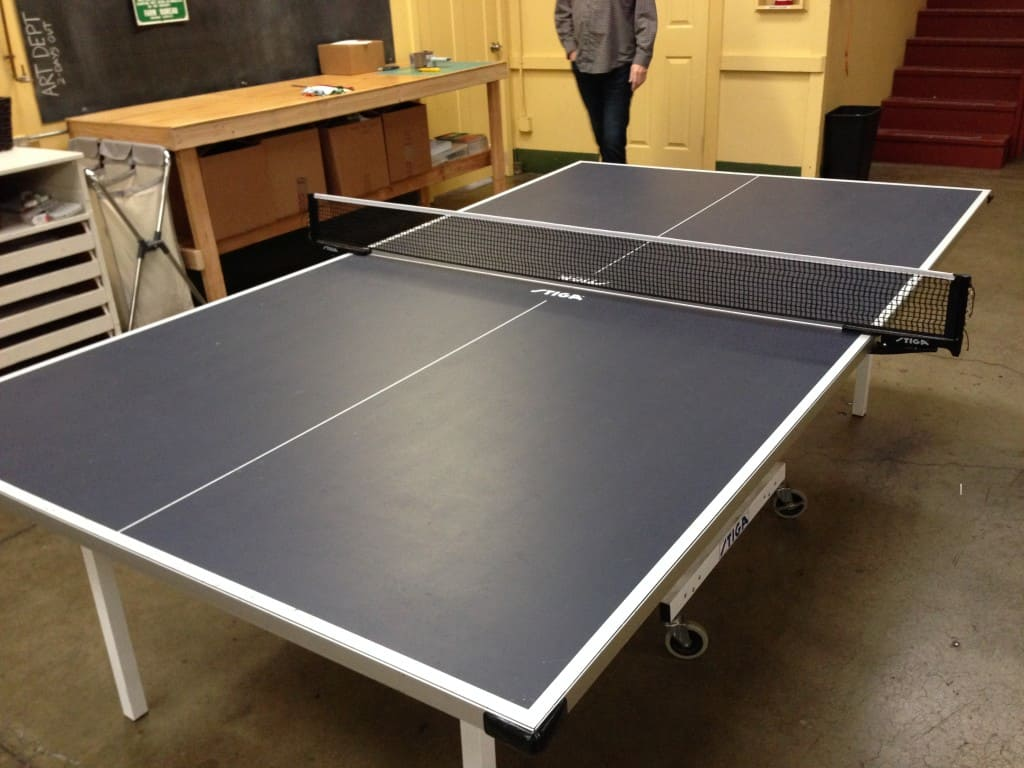 I love ping-pong, so I challenged the resident champ to a game...