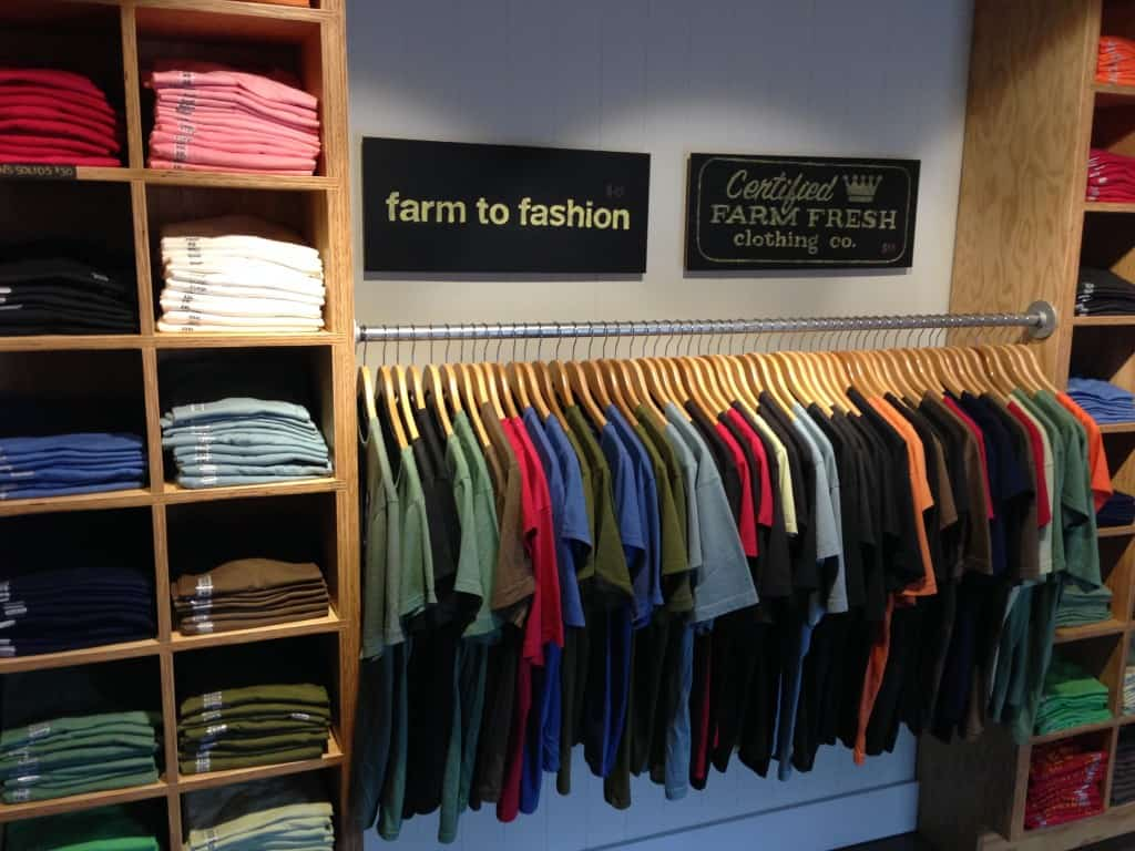 "I knew about ""farm to table"", but ""farm to fashion"", awesome!"