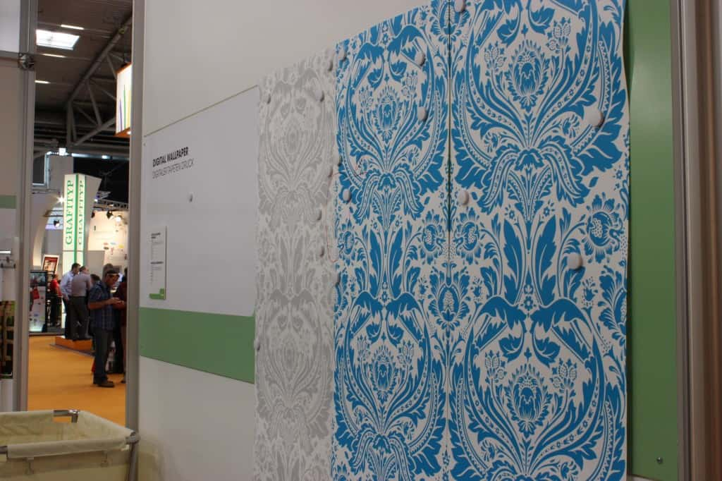 Media for digital printing of wallpaper.