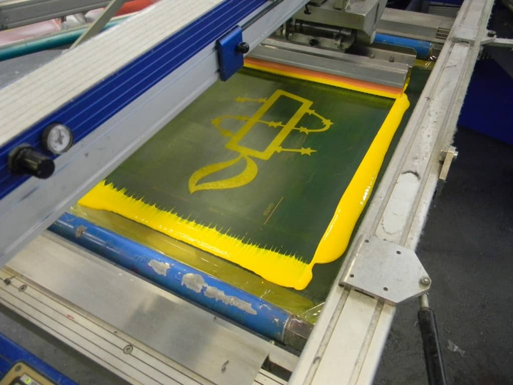 Printing nice bright yellow  according to customer's specs