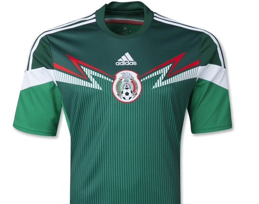 Mexican jersey has it going on, though the company logo in the central location is revolting.