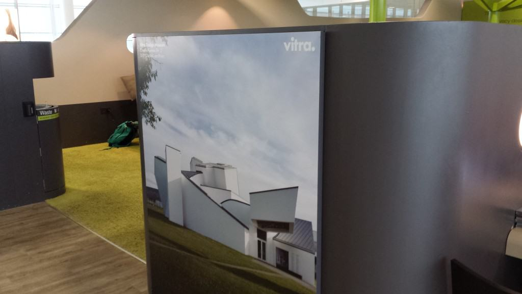 Vitra is the sponsor of the sleeping area