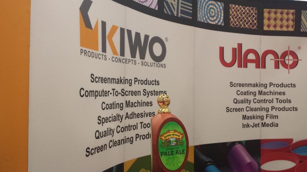 Another brilliant idea, KIWO/Ulano usually has beer at their booth, in tune with the civilized way they do business.