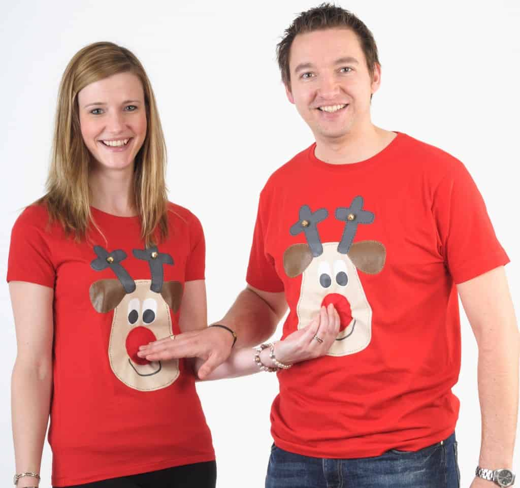 Matching_his_hers_Christmas_t_shirts