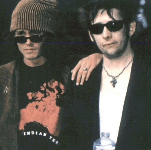 "A map of North America called ""Indian Territory"" that we printed for Minimum Wage Art. Sported by Johnny Depp standing with Shane MacGowan of the Pogues."