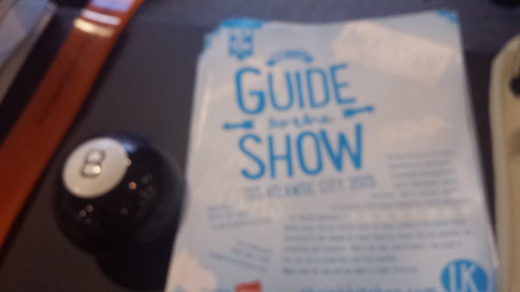 "We've got the Magic 8 ball to answer any questions that we don't know the answers to. More importantly we have our Ink Kitchen ""Guide to the Show"" for our recommendations of what to see at the show and what to check out that is not at the show as well."