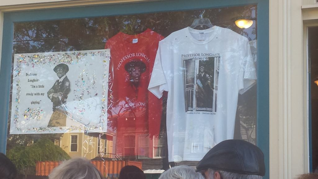 Shirts for sale at the Professor Longhair Museum
