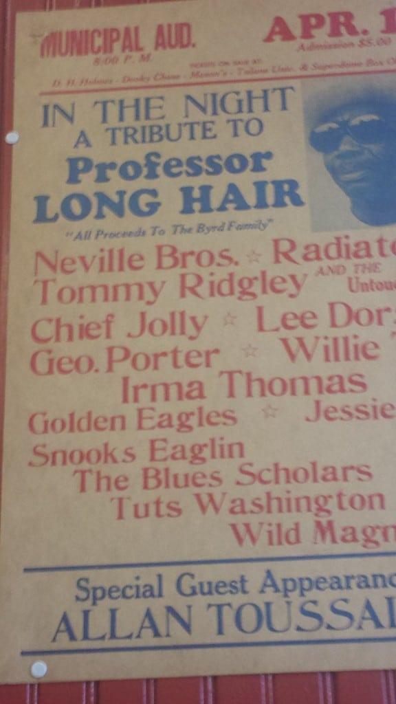 Professor LONG HAIR!