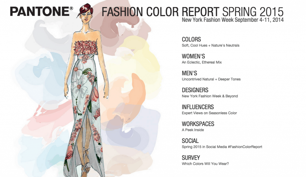 All kinds of color forecasting to make you sound to customers like you went to fashion week in Paris....