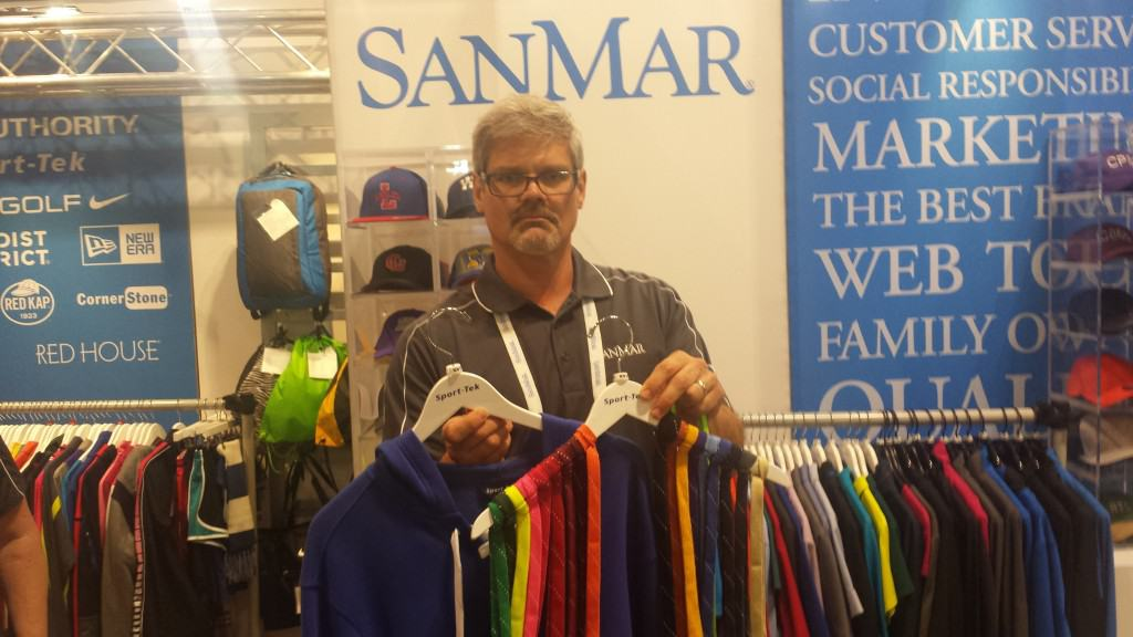 This sweatshirt by San Mar has a variety of laces that can be added. This type of garment doesn't need anything but a simple print.
