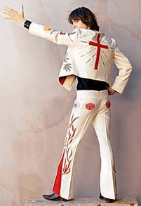 Probably the most famous Nudie suit on the late great Gram Parsons.