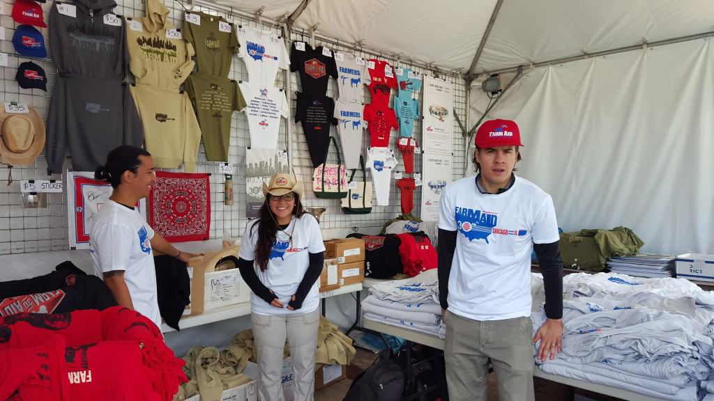 Merch booth Farm Aid 2015
