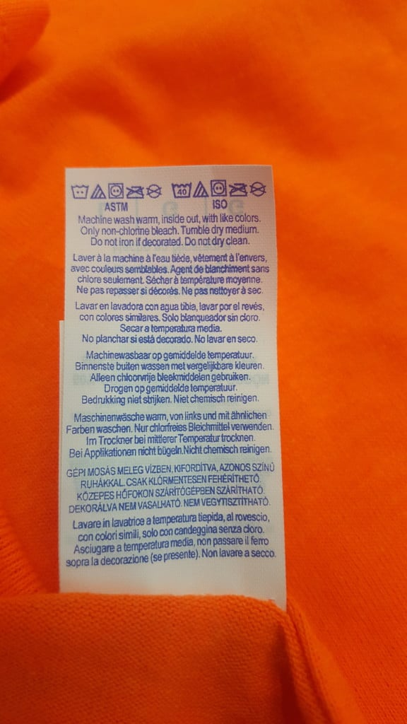 Dry cleaning removes ink, hence the warning on some shirt labels.