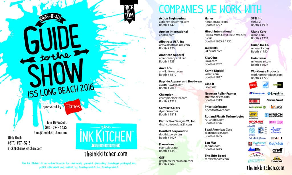 The Ink Kitchen Know-It-All Guide to the ISS Long Beach 2016