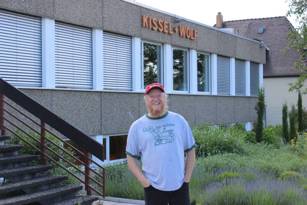 Yours truly outside the world headquarters of KIWO in Wiesloch, Germany