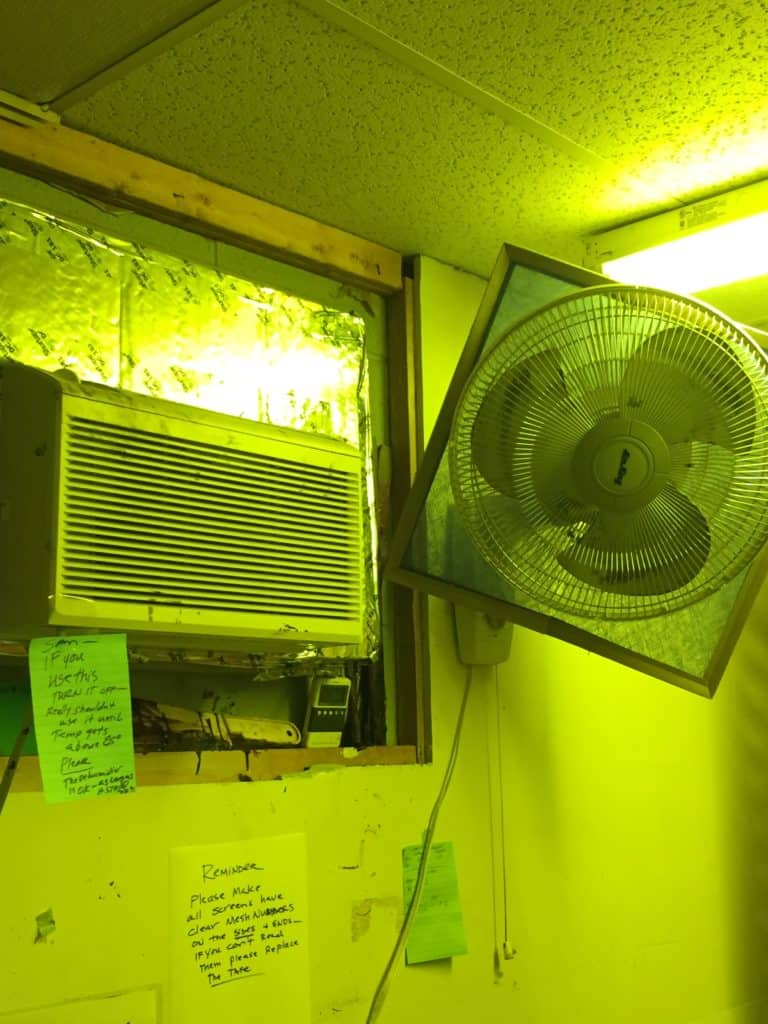First line of defense shown here. Air condition your screen to keep the heat under 80 degrees and have air flow (fan or fans.) AC also lowers the humidity.
