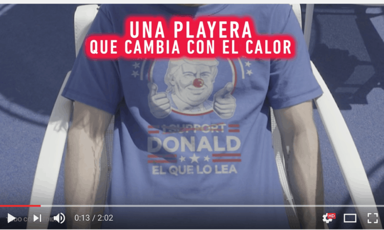 """The message changes with heat to: """"Donald, el que lo lea."""" This means something like whomever reads this is gay."""